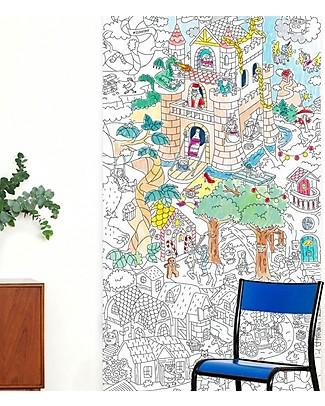 Omy Racconti e Leggende - Poster XXL da Colorare (180 x 100 cm) - Stampa ecologica su carta riciclata! Colorare