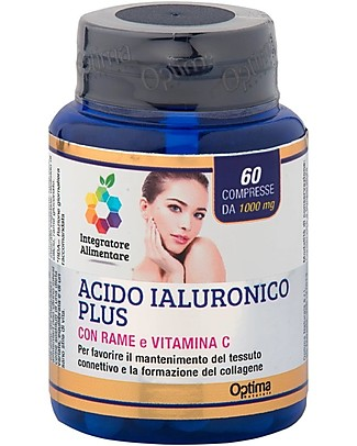 Optima Naturals Acido ialuronico Plus, 60 compresse - per il Tessuto Connettivo e il Collagene Integratori alimentari