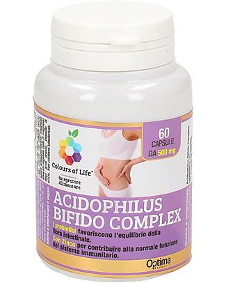 Optima Naturals Acidophilus Bifido Complex 60 Capsule - Equilibrio flora Intestinale Integratori alimentari