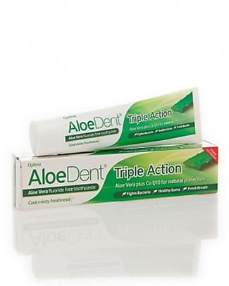 Optima Naturals AloeDent Dentifricio Tripla Azione, 100 ml - Protezione totale Dentifricio e Spazzolini