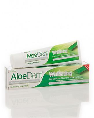 Optima Naturals AloeDent Dentifricio Whitening, 100 ml - Sbiancante Naturale Dentifricio e Spazzolini