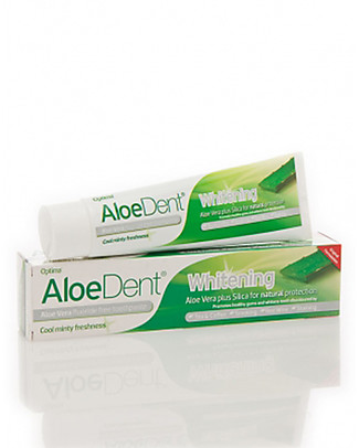 Optima Naturals AloeDent Whitening ToothGel, 100 ml - Natural Whitening Toothpaste and Toothbrush