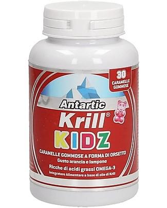 Optima Naturals Antartic Krill Kidz, 30 Caramelle Gommose, 2,5 g - con Omega-3 Integratori alimentari