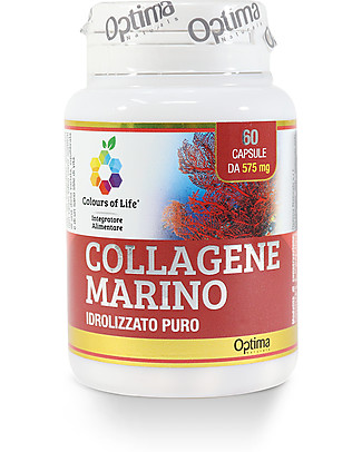 Optima Naturals Collagene marino idrolizzato 60 capsule - Riduce i Segni dell'Invecchiamento Integratori alimentari