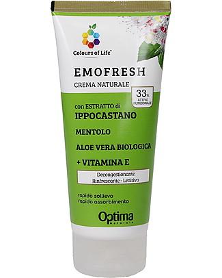 Optima Naturals Crema Eudermica Naturale Emofresh Ippocastano, 100 ml - per Rossori Creme e Olii