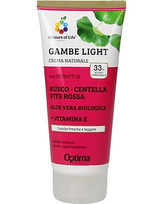 Optima Naturals Crema Eudermica Naturale Gambe Light, 100 ml - Gambe Leggere Creme e Olii