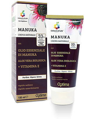 Optima Naturals Crema Eudermica Naturale Manuka, 100 ml - per acne e eczemi Creme e Olii