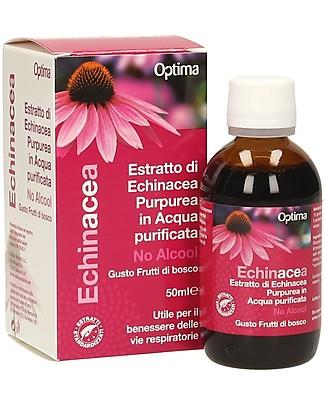 Optima Naturals Echinacea Estratto no alcool Bambini, 50 ml - per Infezioni del Tratto Respiratorio Rimedi Naturali