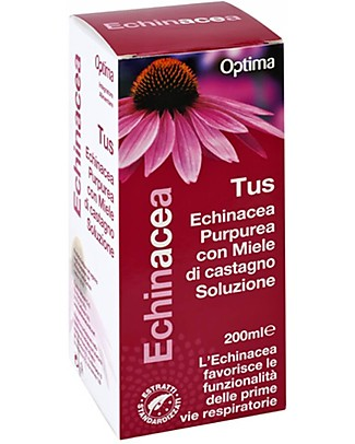 Optima Naturals Echinacea Tus Soluzione, 200 ml - Per la Tosse Rimedi Naturali