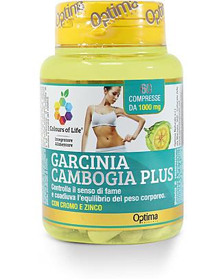 Optima Naturals Garcinia Cambogia Plus, 60 compresse - per il Controllo del Peso Integratori alimentari