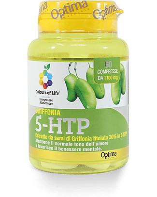 Optima Naturals Griffonia 5-HTP, 60 Compresse - Favorisce il Benessere Mentale Integratori alimentari