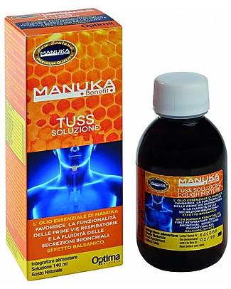 Optima Naturals Manuka Benefit Tuss Soluzione, 140 ml - Per la Tosse Rimedi Naturali