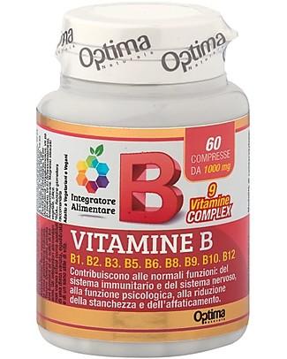 Optima Naturals Vitamina B Complex, 60 Compresse - Stanchezza Fisica e Mentale Integratori alimentari
