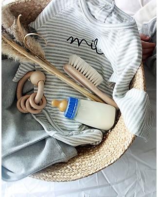 Organic Zoo Body a Righe Milk, Grigio - Cotone Bio ed Alta qualità! Body Manica Lunga