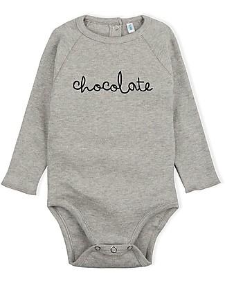 Organic Zoo Body Chocolate, Grigio - Cotone Bio ed Alta qualità! Body Manica Lunga