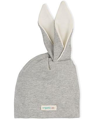 Organic Zoo Cappellino Rabbit, Grigio - Con Orecchie da Coniglio Cappelli