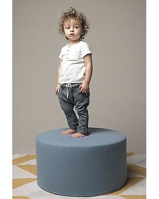 Origami Pantaloni in Felpa, Blu - Cotone bio e fibra di latte Pantaloni Lunghi