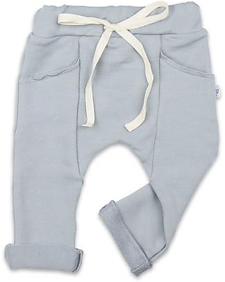 Origami Pantaloni in Felpa, Grigio - Cotone bio e fibra di latte Pantaloni Lunghi