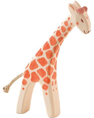 Ostheimer Piccola Giraffa Realizzata a Mano, Legno Sostenibile - 13 cm (H) Construzioni In Legno