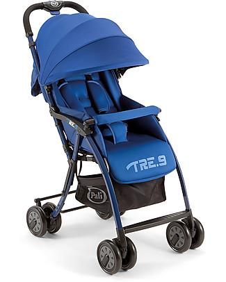 Pali Passeggino Super Leggero Tre.9, Blu Cobalto - Reclinabile, solo 3,9 kg! Passeggini