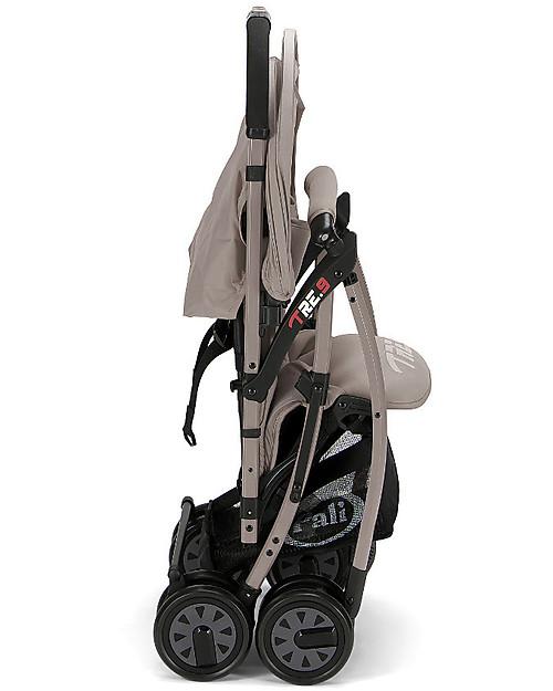 Pali Passeggino Super Leggero Tre.9, Grigio Sabbia - Reclinabile, solo 3,9 kg! Passeggini