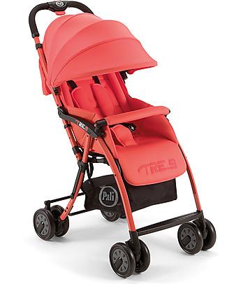 Pali Passeggino Super-Leggero Tre.9, Rosso Candy - Reclinabile, solo 3,9 kg! Passeggini
