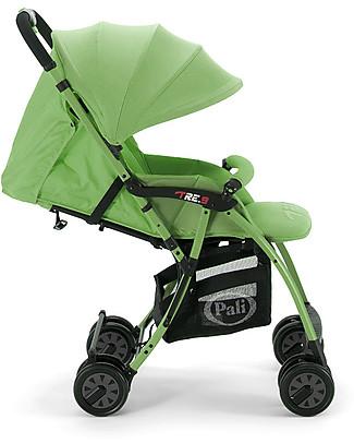 Pali Passeggino Super Leggero Tre.9, Verde Lime - Reclinabile, solo 3,9 kg! Passeggini