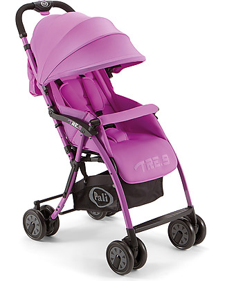 Pali Tre.9 Extra-Light Stroller, Berry Purple - Reclining, 3.9 kg only! Pushchairs