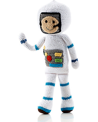 Pebble C'era Una Volta - Astronauta - Fair Trade - Altezza 30 cm circa Pupazzi Crochet