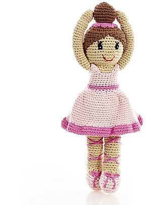 Pebble C'era una Volta - Ballerina Rosa - 30 cm - Fair Trade, Altezza 33 cm Pupazzi Crochet