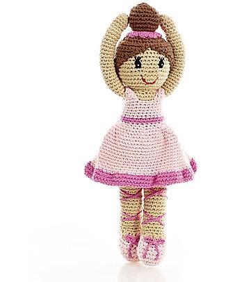 Pebble C'era una Volta - Ballerina Rosa - 30 cm - Fair Trade, Altezza 33 cm Pupazzi Crochet