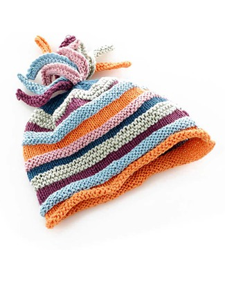 Pebble Cappellino a Righe Multicolor - Cotone Bio e Fair Trade Cappelli