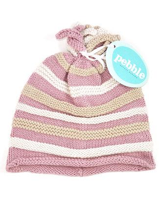 Pebble Cappellino a Righe Rosa - 100% Cotone Bio e Fair Trade Cappelli