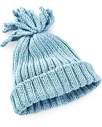Pebble Cappellino Baby a Costine, Azzurro - 100% cotone bio, fairtrade Cappelli
