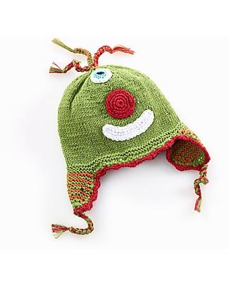 Pebble Cappellino Paraorecchie Cheeky Mostriciattolo - Verde - Cotone Bio Cappelli