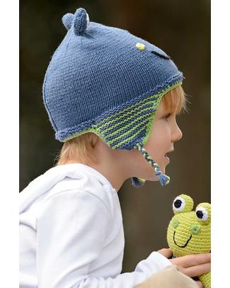 Pebble Cappellino Paraorecchie Rana Blu - Fair Trade Cappelli