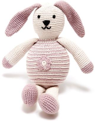 Pebble Coniglietto Rosa con Fiore - Bio e Fair Trade (Altezza 20 cm) null