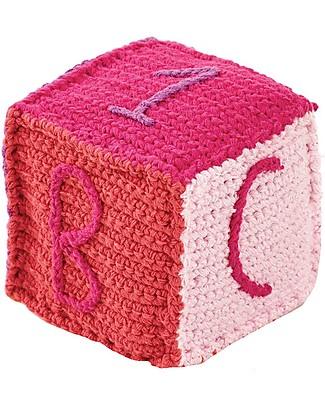 Pebble Cubetto Lettere e Numeri - Fucsia (10 cm) - 100% Cotone Pupazzi Crochet