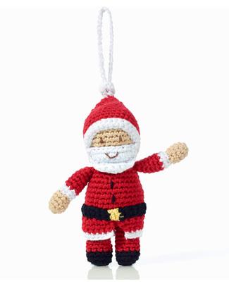 Pebble Decorazione Natalizia - Babbo Natale - Fair Trade (altezza 12 cm circa) Decorazioni Natalizie