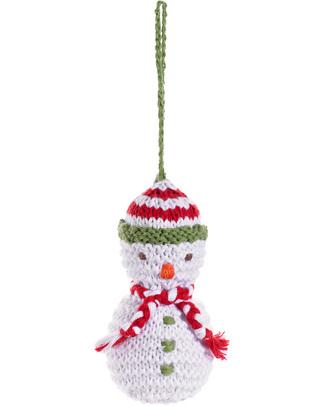 Pebble Decorazione Natalizia - Pupazzo di Neve - Fair Trade (altezza 9 cm circa) Decorazioni Natalizie