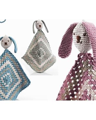 Pebble Doudou Coniglietto - Blu Pastello - Cotone Bio Doudou