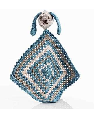 Pebble Doudou Coniglietto - Blu Pastello - Cotone Bio null