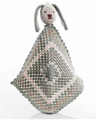 Pebble Doudou Coniglietto - Tortora - Cotone Bio Doudou