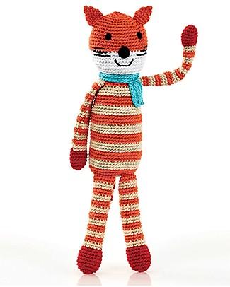Pebble Fox Crochet Rattle - 30 cm - Fair Trade Crochet Soft Toys