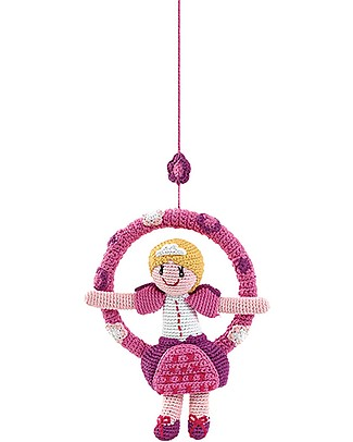 Pebble Giostrina Mobile - Principessa - 27 cm - Fair Trade Pupazzi Crochet