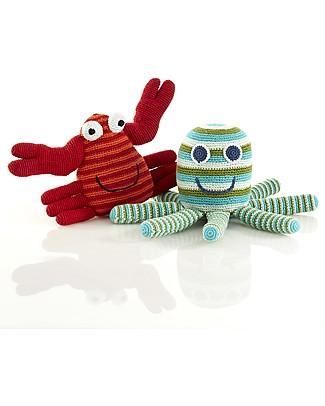 Pebble Grandi Amici - Piovra Gigante - Verde -  28x16x14 cm Pupazzi Crochet