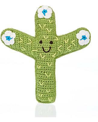 Pebble L'amico Cactus, Verde - Fairtrade, Puro Cotone Sonagli