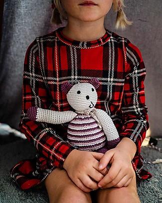 Pebble Orsetto, Viola - Bio e Fair Trade (Altezza 10 cm) Pupazzi Crochet