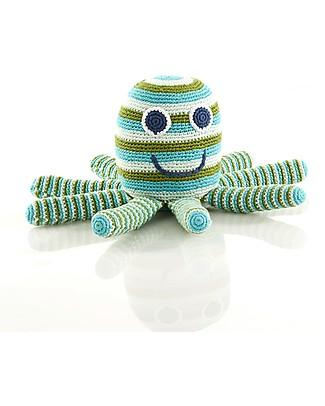 Pebble Piovra Gigante - Verde -  28x16x14 cm Pupazzi Crochet