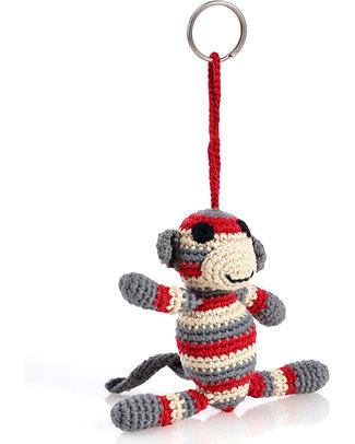 Pebble Portachiavi - Scimmietta Rossa Portachiavi